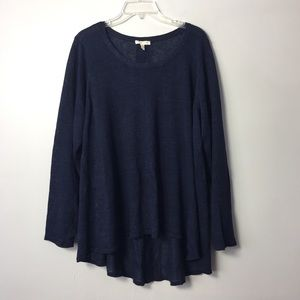 Eileen Fisher Navy Italian knit linen plus size 3X